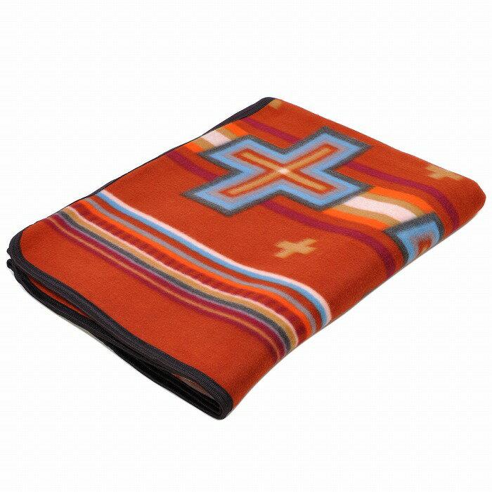 エルパソサドルブランケット (El Paso SADDLEBLANKET) Fleece Lodge Blanket フリースロッジブランケット[約203×152cm]08.RUST