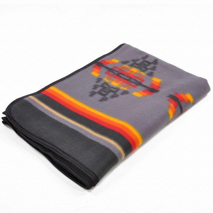 エルパソサドルブランケット (El Paso SADDLEBLANKET) Fleece Lodge Blanket フリースロッジブランケット[約203×152cm]09.GRAY