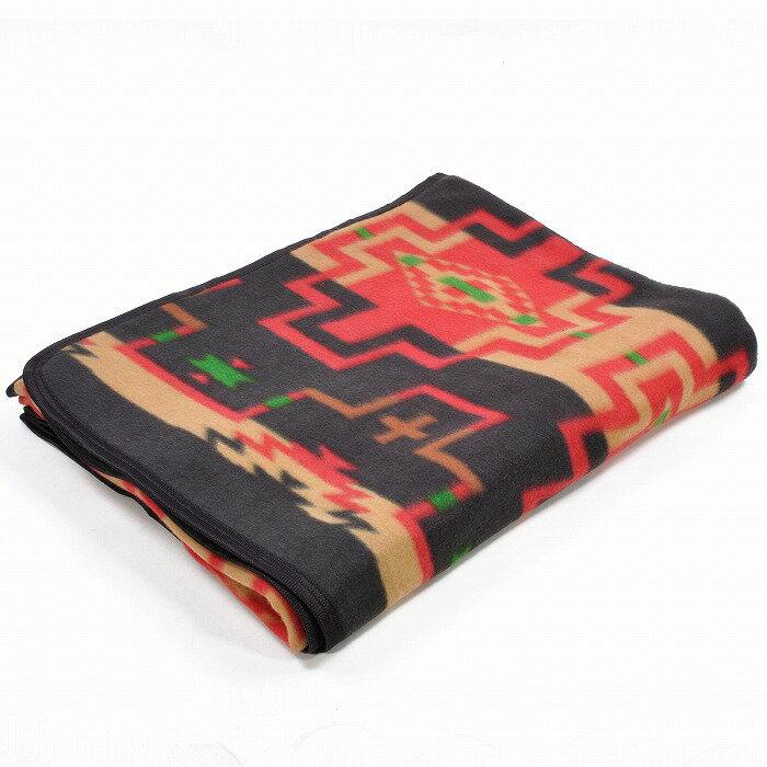 エルパソサドルブランケット (El Paso SADDLEBLANKET) Fleece Lodge Blanket フリースロッジブランケット[約203×152cm]18.BLK/TAN