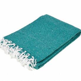 モリーナインディアンブランケット (Molina Indian Blanket) Solid Blanket/無地メキシカンブランケット[198×124cm]TEAL