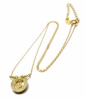 K18ゴールドペンダントネックレス/アンジェラANGELA/ラッキーインラブネックレスK18イエローゴールドネックレスレディースおしゃれかわいいプレゼント