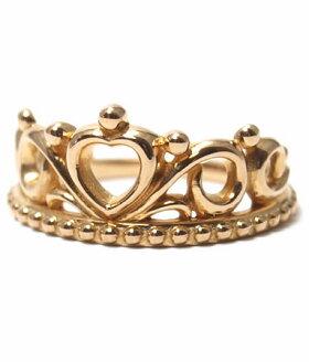 K18ゴールドリング指輪/アンジェラANGELA/エタナールハートティアラピンキーリングK18ピンクゴールド指輪リングレディースおしゃれかわいいプレゼントゴールドK18