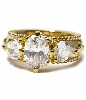 K18ゴールドリング指輪/アンジェラANGELA/フェイスリングw/CZK18イエローゴールド指輪リングレディースおしゃれかわいいプレゼントゴールドK18