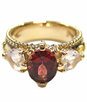 K18ゴールドリング指輪/アンジェラANGELA/フェイスリングw/トルマリン・ローズクォーツK18イエローゴールド指輪リングレディースおしゃれかわいいプレゼントゴールドK18