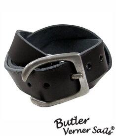 本革ベルト 厚さ35mm 日本製 バトラーバーナーセイルズ ButlerVernerSails / ピューターギャリソン金具 / アメカジ ストリート 牛革ベルト レザーベルト カジュアル おしゃれ カジュアル 30代 40代 50代 ファッション ブランド