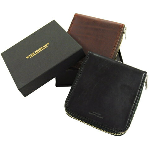 二つ折り財布 使いやすい財布 日本製 本革 レザー ラウンドファスナー バトラーバーナーセイルズ ButlerVernerSails / HORWEENレザー メンズ レディース さいふ 小銭入れ おしゃれ カジュアル 30代 40代 50代 ファッション