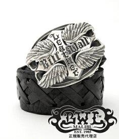 送料無料 BWL ビルウォールレザー Bill Wall Leather / ロゴ w/ウィング バックル 【 メンズ ベルト ベルトバックル シルバー おしゃれ 】