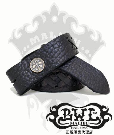 送料無料 BWL ビルウォールレザー Bill Wall Leather / X ステッチ ベルト ストラップ ベルト 【 メンズ BWL ベルト シルバーアクセサリー 】
