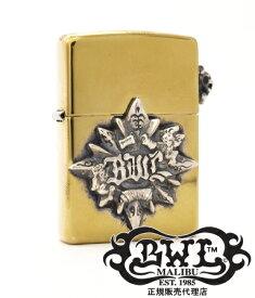 送料無料 BWL ビルウォールレザー Bill Wall Leather / ブラス ノーティカル スター ジッポ 【Zippo メンズ 小物 クロス オイル ライター シルバー おしゃれ 】