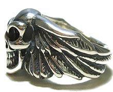 sv925リング指輪/BWLビルウォールレザーBillWallLeather/ウィング/グッドラックスカルリングメンズレディースBWL指輪シルバーおしゃれ
