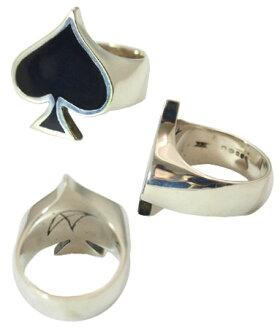 sv925リング指輪/クレイジーピッグCRAZYPIG/エースオブスペードエナメルリング指輪リングメンズリングレディースおしゃれ正規品プレゼントシルバー925