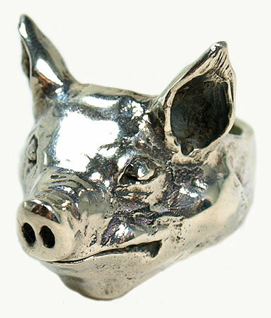 クレイジーピッグ 「正規販売認定店」 リング 指輪 / CRAZYPIG ラージピッグヘッドリング 【 CRAZY PIG 正規品 指輪 リング メンズ リング レディース おしゃれ JAS刻印 】