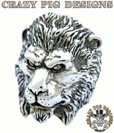 クレイジーピッグ 「正規販売認定店」 シルバー925 リング メンズ シルバーリング 指輪 / CRAZY PIG ライオンリング 【 正規品 指輪 メンズリング レディースリング おしゃれ かっこいい 人気 ブランド JAS刻印 】