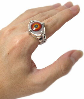 クレイジーピッグ/フォアクロウズアイリング/ヒューマン(レッド)CrazyPig指輪【SALE】【smtb-m】【正規販売代理店】【YDKG-m】