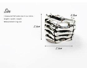 sv925リング指輪/クレイジーピッグCRAZYPIG/ボーンハンドリング指輪リングメンズリングレディースおしゃれ正規品プレゼントシルバー925