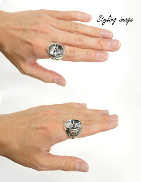 sv925リング指輪/クレイジーピッグCRAZYPIG/クリスタルスカルリング指輪リングメンズリングレディースおしゃれ正規品プレゼントシルバー925