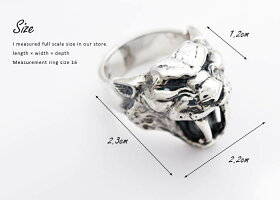 sv925リング指輪/クレイジーピッグCRAZYPIG/サーベルトゥースタイガーリング【指輪リングメンズリングレディースおしゃれ正規品プレゼントシルバー925】