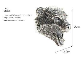 sv925リング指輪/クレイジーピッグCRAZYPIG/ベアーヘッドリング指輪リングメンズリングレディースおしゃれ正規品プレゼントシルバー925