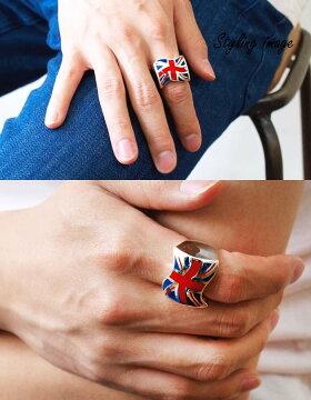 sv925リング指輪/クレイジーピッグCRAZYPIG/ユニオンジャックリングマルチカラー指輪リングメンズリングレディースおしゃれ正規品プレゼントシルバー925