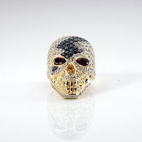 ポイント5倍sv925リング指輪/キングリモリング/キングオブABヘッドリングゴールド金色スカルドクロ指輪メンズリングレディースリングプレゼントおしゃれ