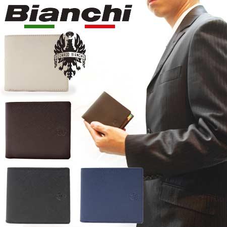ビアンキ 二つ折り財布 日本正規品 Bianchi ビアンキ 本革 レザー 二つ折り財布 ショートウォレット 【 メンズ レディース 財布 さいふ 小銭入れ 札入れ おしゃれ シンプル 人気 大人カジュアル ビジネス 20代 30代 40代 50代 ファッション 】 クリスマス