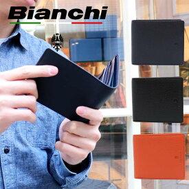 ビアンキ 二つ折り財布 日本正規品 Bianchi ビアンキ 本革 レザー 二つ折り財布 ショートウォレット 【 メンズ レディース 財布 さいふ 小銭入れ 札入れ おしゃれ シンプル 人気 大人カジュアル ビジネス 20代 30代 40代 50代 ファッション 】