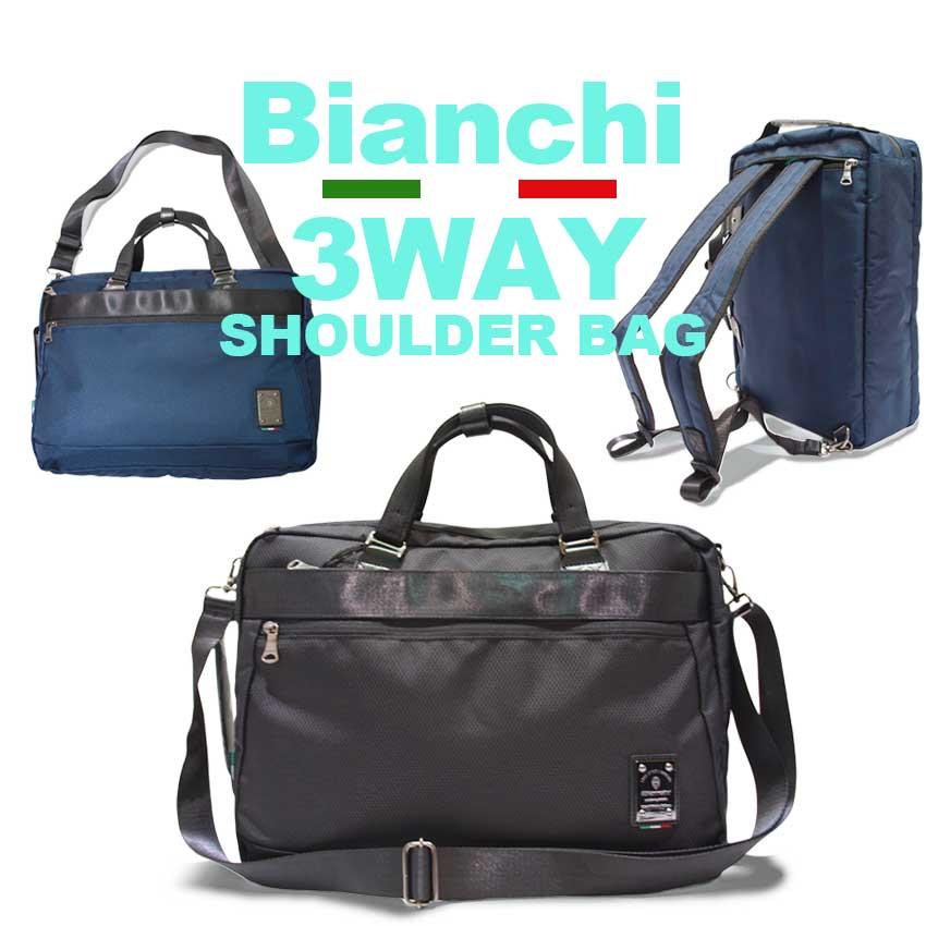 ビアンキ 3wayバッグ 日本正規品 Bianchi ビアンキ リュックサック ショルダーバッグ トートバッグ 【 メンズ レディース 斜めがけ ビジネスバッグ おしゃれ 軽量 軽い 大容量 大きめ ポケット たくさん 20代 30代 40代 50代 ファッション ブランド 】