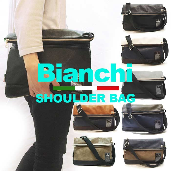 ビアンキ 2wayバッグ 日本正規品 Bianchi ビアンキ サコッシュバッグ 【 メンズ レディース PUレザー ミニショルダーバッグ クラッチバッグ 斜めがけ ビジネスバッグ おしゃれ 軽量 軽い コンパクト ポケット たくさん 20代 30代 40代 50代 ファッション ブランド 】
