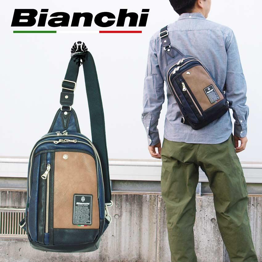 ビアンキ ボディバッグ 日本正規品 Bianchi ビアンキ ワンショルダーバッグ 【 メンズ レディース ナイロン 斜めがけ 肩がけ メンズビジネスバッグ おしゃれ 軽量 軽い コンパクト ポケット たくさん 20代 30代 40代 50代 ファッション ブランド 】