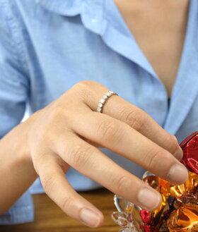 K18リング3カラーから選べる日本製ゴールドリングレディース指輪18金/ファンシーハーフエタ二ティダイヤモンド0.21カラットゴールドリング【おしゃれかわいい華奢プチジュエリーシンプル18kK1010金10k】