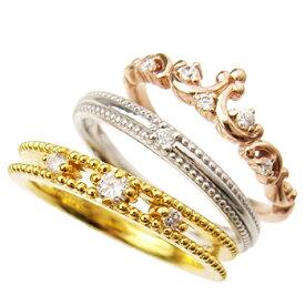 シルバー925 リング 指輪 / ミー me / ティアラ 3連ピンキーリング 【 指輪 リング レディース おしゃれ かわいい シルバー925 】