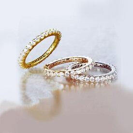 ピンクゴールドcoatリング 指輪 / ミー me / SV925フルエタニティーリング (イエローゴールドコーティング) 【 指輪 リング レディース おしゃれ かわいい シルバー925 】