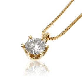 K10ゴールドペンダントネックレス/ミーリュックスME.LUXE/K18イエローゴールド0.2ctダイヤモンドネックレス【ネックレスレディースプレゼントおしゃれかわいいゴールドK18K10】