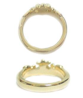 K9ゴールドリング指輪/ロイヤルオーダーROYALORDER/マリークラウンバンドw/ダイヤモンドK9ゴールドリング指輪プライダルジュエリーメンズレディースおしゃれ