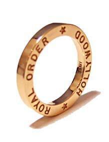 K9ゴールドリング指輪/ロイヤルオーダーROYALORDER/ハリウッドバンドK18ゴールドリング【指輪リングメンズリングレディース正規品ゴールドK18K9おしゃれ】