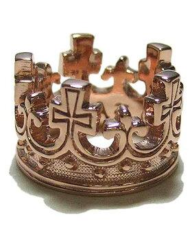 K9ゴールドリング指輪/ロイヤルオーダーROYALORDER/ラージクラウンK18ゴールドリング指輪リングメンズリングレディース正規品ゴールドK18K9おしゃれ