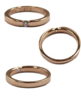 K9ゴールドリング指輪/ロイヤルオーダーROYALORDER/ヘイローw/1ダイヤモンドK18ゴールドリング【指輪リングメンズリングレディース正規品ゴールドK18K9おしゃれ】