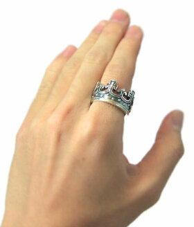 ロイヤルオーダーROYALORDER/ラージクラウンリング[ring指輪シルバーアクセサリーメンズレディースSEVENSISTERS]【送料無料】