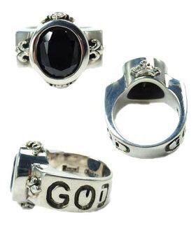 sv925リング指輪/ロイヤルオーダーROYALORDER/デミゴッドオーバルw/オニキスリング【指輪リングメンズリングレディース正規品シルバー925おしゃれ】