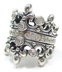 ロイヤルオーダー Royal Order 正規 リング ロイヤルオーダー 指輪 送料無料 シルバー925 / ダブル ティアラ w/ダイヤモンド&ダイヤモンド リング 指輪 リング メンズ リング レディース おしゃれ