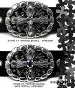 トップ式バックル silver925 バックル金具 ストーン S.A. クロッシーズ Soffer Ari ソファーアリ 【 メンズ ベルト シルバー製 USAバッ…