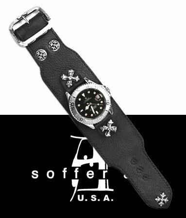 レザーウォッチバンド ロレックス ROLEX 腕時計ベルト 牛革 本革製 【 メンズ レディース 30代 40代 50代 60代 ファッション USA製 アメリカ 人気 セレブ 高級ブランド 正規品 おしゃれ ハード ロック rock 美しい キレイ お洒落 Soffer Ari 注クロムハーツではありません 】
