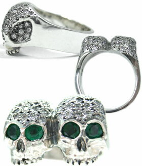 sv925リング指輪/ソファーアリSofferAri/ドントアラウンドリングパヴェダイヤモンドw/エメラルドアイズ指輪メンズリングレディースリング正規品プレゼントおしゃれ