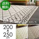 ラグ ラグマット 200x250cm モロッコ モロカン ベニワレン 絨毯 厚手 ウィルトン織 約3畳