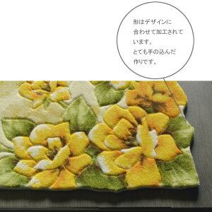 玄関マット55x85cm室内屋内おしゃれ黄色イエローroseyellowrose55生活雑貨【送料無料】