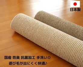日本製 本間6畳サイズ 抗菌 防臭 手洗い フリーカット可能 本間6帖「ベース」シンプルでリーズナブルな国産カーペット 「本間6畳約286×382」