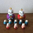KIMURA&Co.手作りマトリョーシカ 在庫あり!即納『猫雛 Cat Hinadoll』7.5cm 陶器人形8個入り【マトリョーシカ】