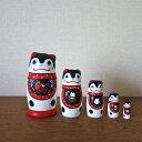 KIMURA&Co.手作りマトリョーシカ受注生産『張子犬』11.5cm 5個組 【マトリョーシカ】