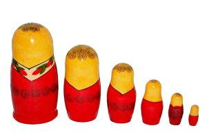 【RCP】ロシア伝統柄のマトリョーシカロシヤーノチカ6個組13センチ【マトリョーシカ】【kitchen_frship】