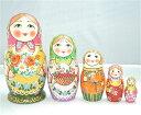セルギエフ・ポサード マトリョーシカ森の恵み ピンク頭巾 イヴァンツォヴァ作 5個組 16cm【マトリョーシカ】